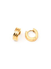 MAY MARTIN <br> Claire Gold-Dipped Huggie Hoops - The Shop Laguna Beach