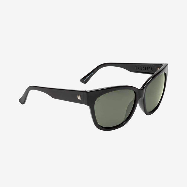 ELECTRIC WOMEN'S Danger Cat Polarized Sunglasses • Gloss Black/Grey Polarized $160