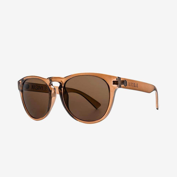 ELECTRIC WOMEN'S Nashville XL Polarized Sunglasses • Gloss Mono Bronze/Bronze Polarized $160