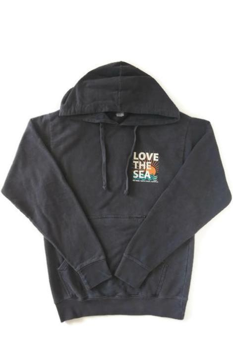 THE SHOP LAGUNA • LOVE THE SEA Bomber Pullover Hoodie Slate Grey