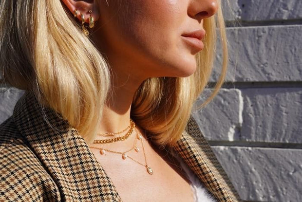 "MAY MARTIN <BR> The Elliot Mini 16"" Chain Necklace - The Shop Laguna Beach"