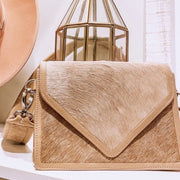 SAUDARA THE LABEL <BR> Hannah Crossbody Cowhide Envelope Purse-The Shop Laguna Beach