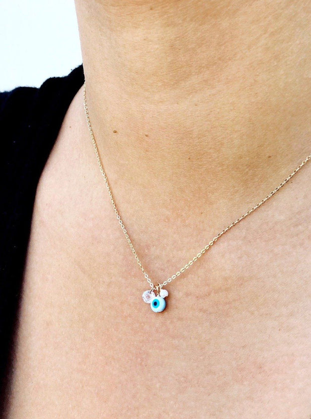 MAY MARTIN <br> Shell Eye Charms Necklace - The Shop Laguna Beach