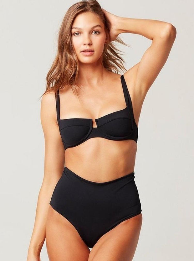 L*SPACE  Portia Solid Bitsy Bottom - The Shop Laguna Beach