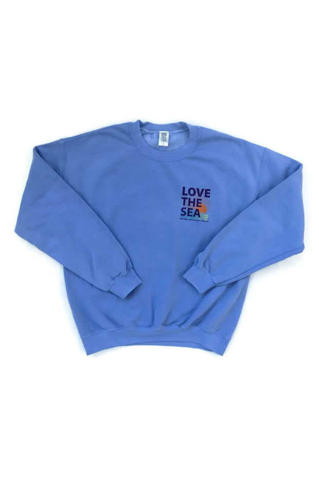 LOVE THE SEA <br> Bomber Crew Pullover <br><small><i> (More Colors Available) </i></small> - The Shop Laguna Beach