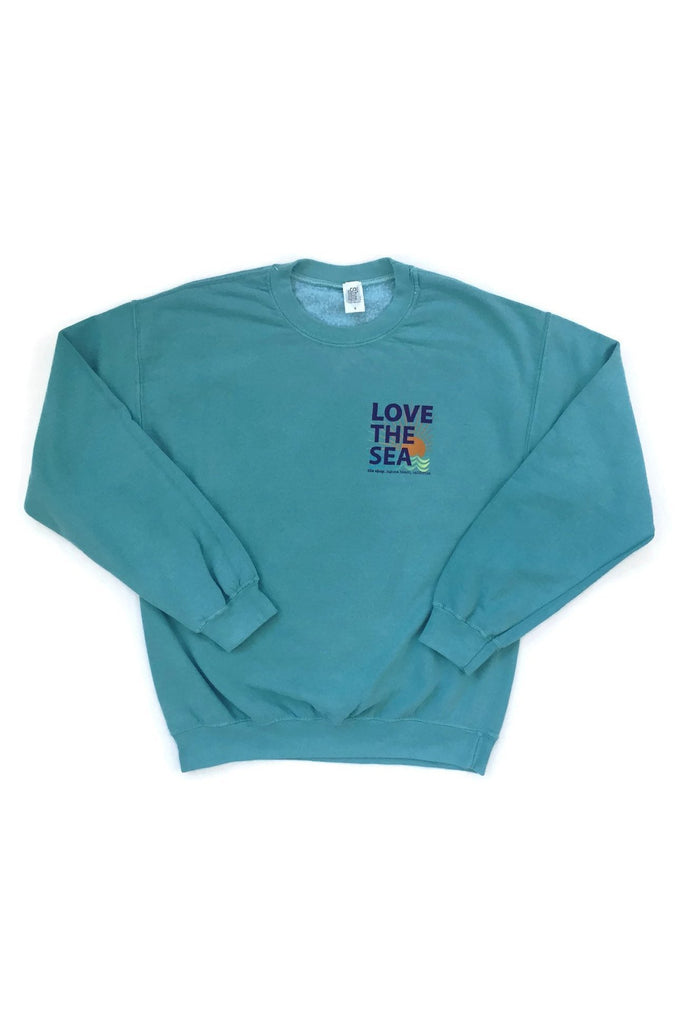 LOVE THE SEA<BR>Bomber Crew Pullover