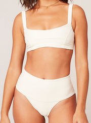 L*SPACE <BR> Desi EcoChic High-Waist Classic Bottom  (More Colors Available)  - The Shop Laguna Beach