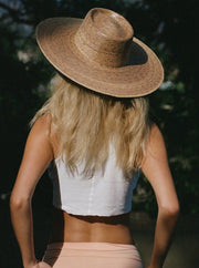 LACK OF COLOR <BR> Palma Wide Boater Hat - The Shop Laguna Beach