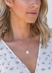 MAY MARTIN <br> Gold Filled Pearl Hoops - The Shop Laguna Beach