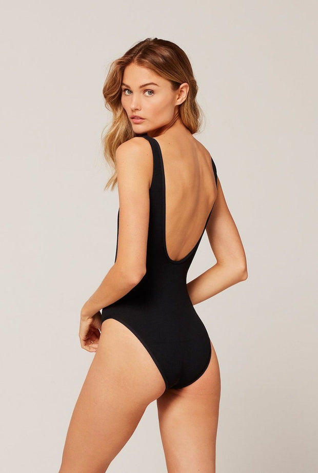 L*SPACE Float On Ribbed One Piece Black