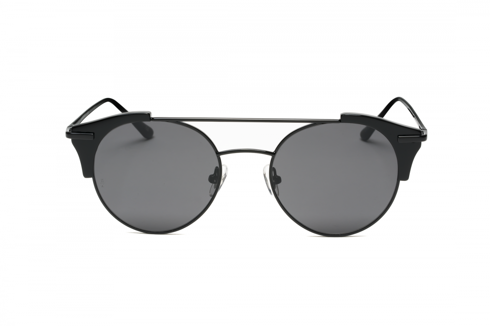 WONDERLAND SUN Rialto Sunglasses Gloss Black Black Metal