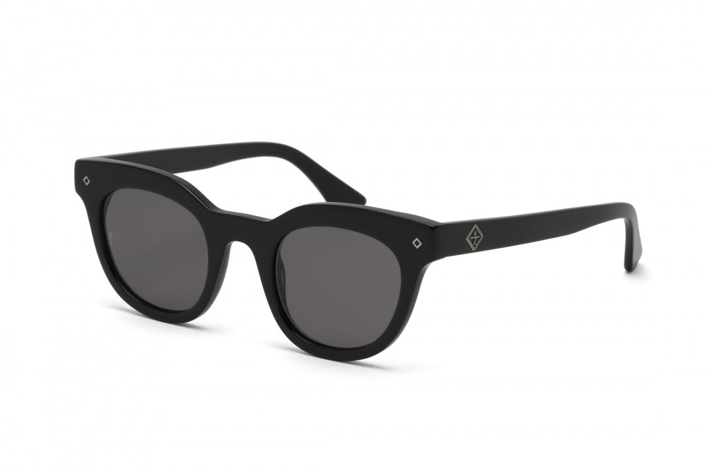 WONDERLAND SUN Perris Sunglasses Gloss Black / Gray CZ