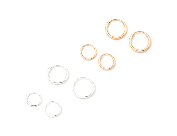 MAY MARTIN  9mm Gold Petite Hoops - The Shop Laguna Beach