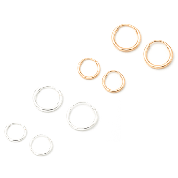 MAY MARTIN <BR> Small Petite Sterling Silver Hoops - The Shop Laguna Beach