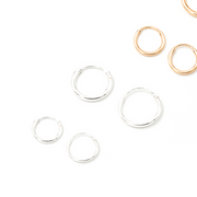 MAY MARTIN <br> Petite 12mm Sterling Silver Hoops-The Shop Laguna Beach