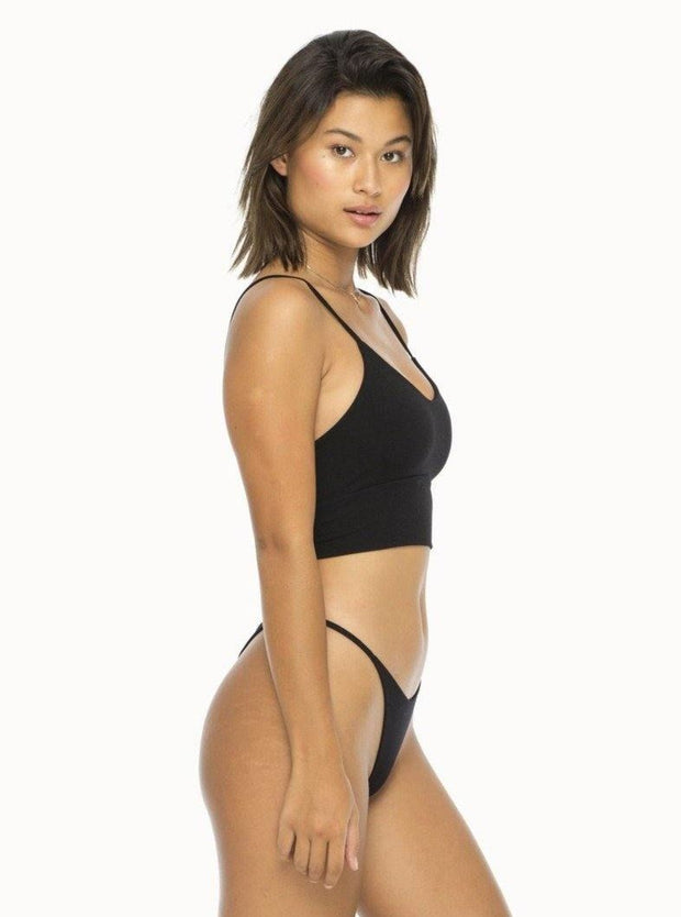 INDAH  Wafer Solid Longline Bralette  (More Colors Available)  - The Shop Laguna Beach