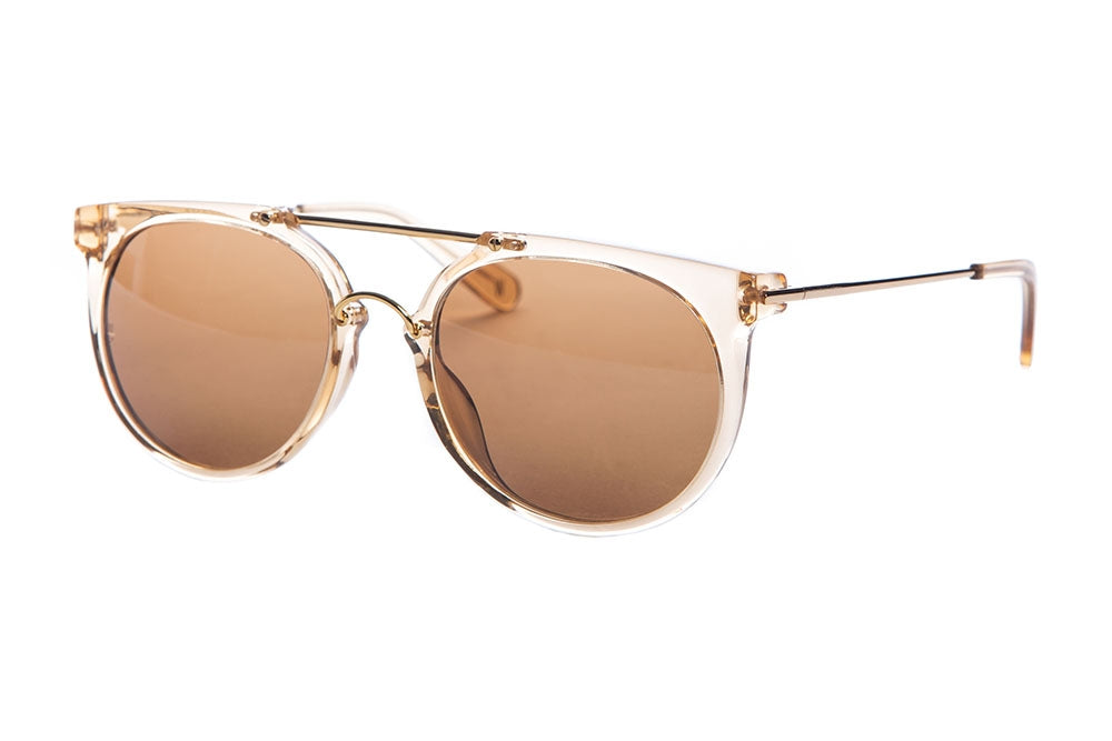 WONDERLAND SUN Stateline Sunglasses Clear Beach Glass Bronze CZ