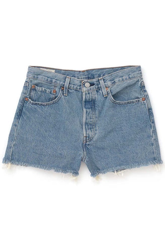 RVCA<BR>I'm Listening High Rise Chambray Short