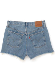 LEVI'S <BR> 501 High Rise Denim Shorts <br><small><i> Eat Your Words </small></i> - The Shop Laguna Beach
