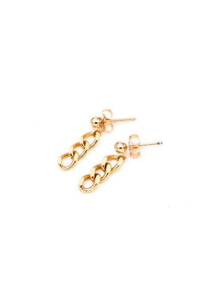 MAY MARTIN <BR> Three Link Earrings - The Shop Laguna Beach