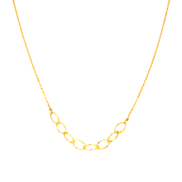 MAY MARTIN <BR> Gold Fill Link Choker Necklace - The Shop Laguna Beach