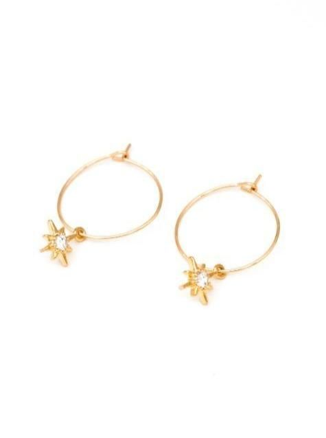 MAY MARTIN <br> North Star Hoop Earrings - The Shop Laguna Beach