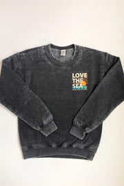 THE SHOP LAGUNA • LOVE THE SEA Bomber Crew Pullover Vintage Black