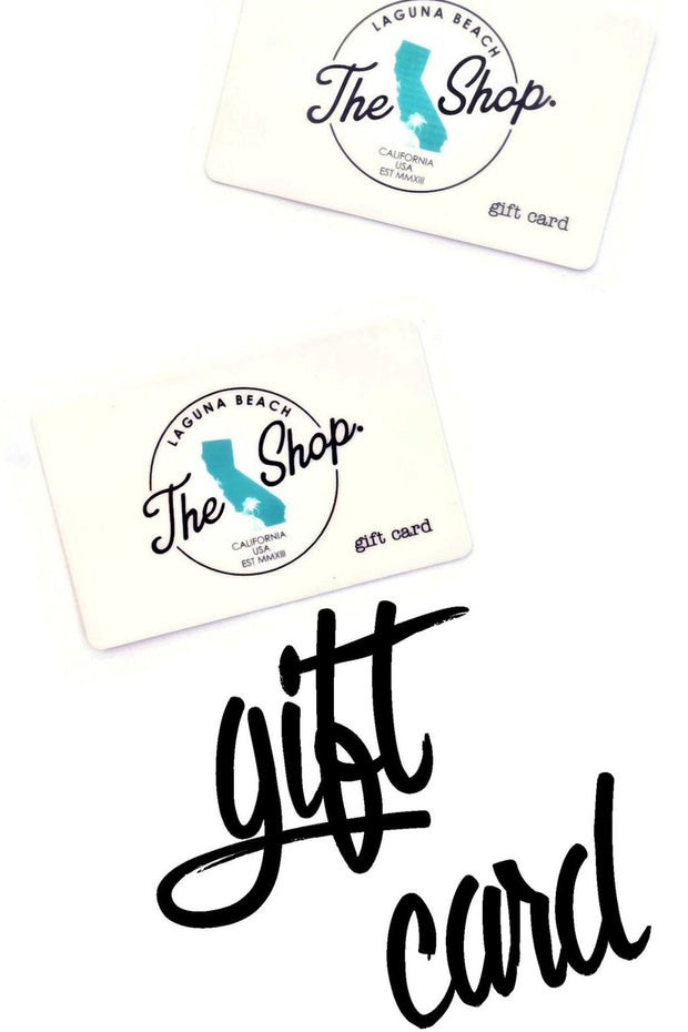 ONLINE GIFT CARD - The Shop Laguna Beach