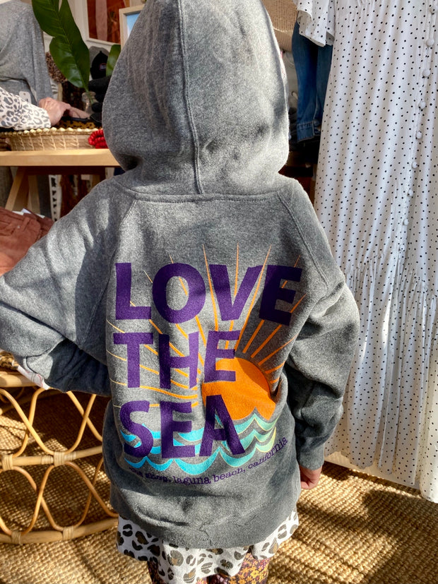 LOVE THE SEA <BR> Youth Fleece Zip Hoodie <br><small><i> (More Colors Available) </i></small>-The Shop Laguna Beach
