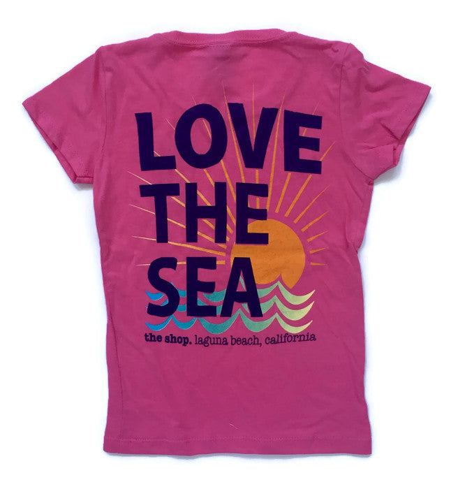 LOVE THE SEA<BR>Girls Classic Princess Tee<br><small><i>(More Colors Available)</i></small>