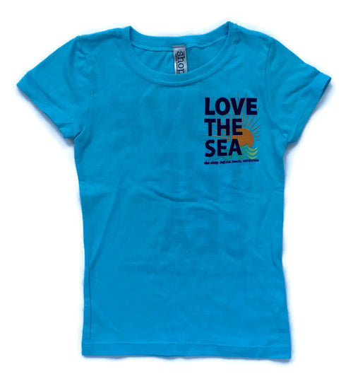 LOVE THE SEA<BR>Classic Kids Princess Tee<br><small><i>(More Colors Available)</i></small>