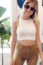 KEEN THE LABEL <br> Lexi Crop Racerback Tank <br><small><i> (More Colors Available) </i></small> - The Shop Laguna Beach