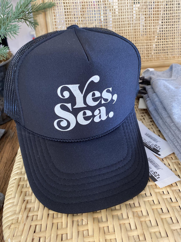 DANIELLA MANINI <br> Yes, Sea. Trucker Hat <br><small><i> (More Colors Available) </small></i>-The Shop Laguna Beach