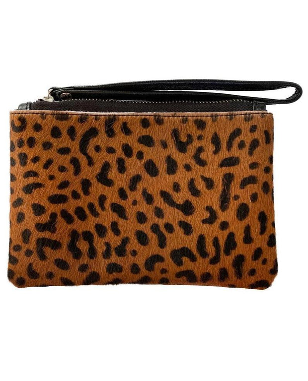 SAUDARA THE LABEL <BR> Small BB Zip Cowhide Pouch <br><small><i> (More Colors Available) </small></i>