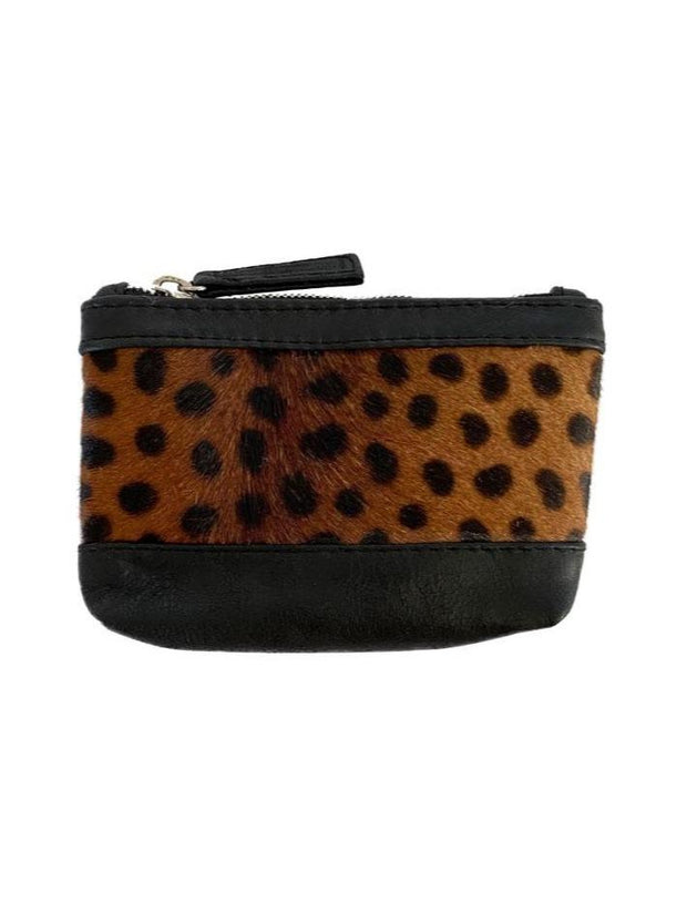 SAUDARA THE LABEL <br> Cowhide & Leather Coin Purse <br><small><i> (More Colors Available) </small></i> - The Shop Laguna Beach