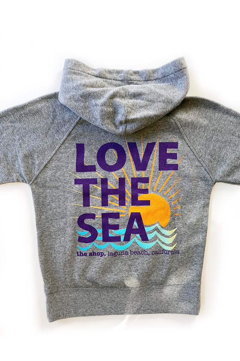 LOVE THE SEA<BR>Youth Fleece Pullover Hoodie
