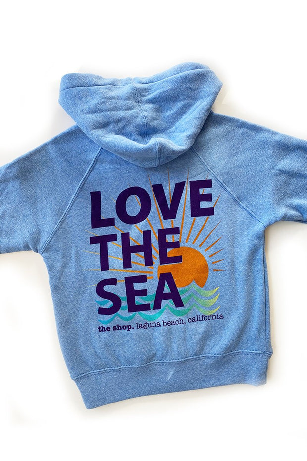 LOVE THE SEA <BR> Youth Fleece Zip Hoodie