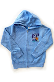 LOVE THE SEA <BR> Youth Fleece Zip Hoodie - The Shop Laguna Beach