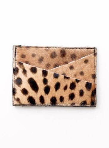 SAUDARA THE LABEL <BR> Breazy Diagonal-Slot Cowhide Card Holder <br><small><i> (More Colors Available) </small></i> - The Shop Laguna Beach