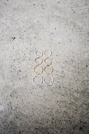 MAY MARTIN <BR> 12mm Gold Petite Hoops - The Shop Laguna Beach