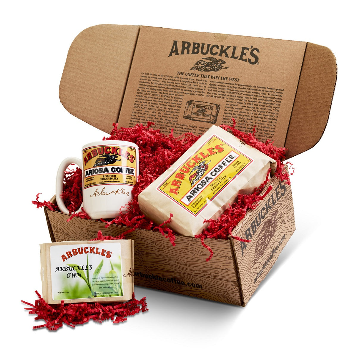 Ariosa, Mug & Arbuckle's Own Gift Box