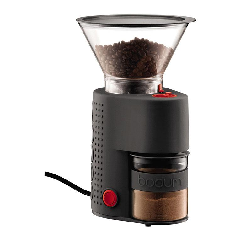 Bistro Grinder Pre-Set Timer Adjustable Grind in Black