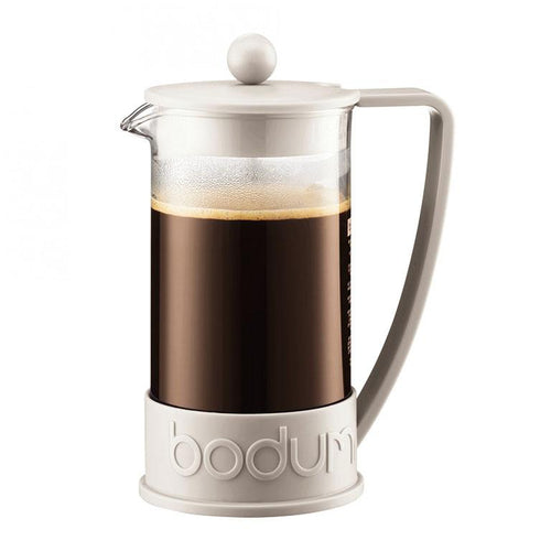 BRAZIL French Press coffee maker, White, 8 cup, 1.0 l, 34 oz