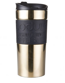BODUM 12 oz Travel Mug in Gold