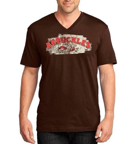 Arbuckle's Espresso V-neck T shirt