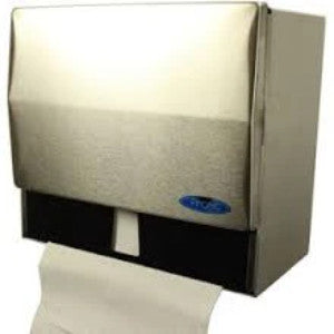 103 Universal Towel Dispenser - Brushed Metal - National Washroom Supply