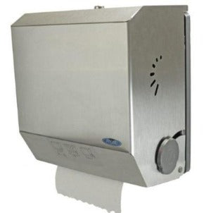 109-60S – MECHANICAL HANDS FREE TOWEL DISPENSER, SURFACE MOUNTED - National Washroom Supply