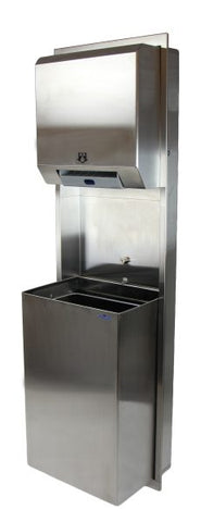 427-70 SERIES HANDS FREE COMBINATION TOWEL / WASTE RECEPTACLE - National Washroom Supply