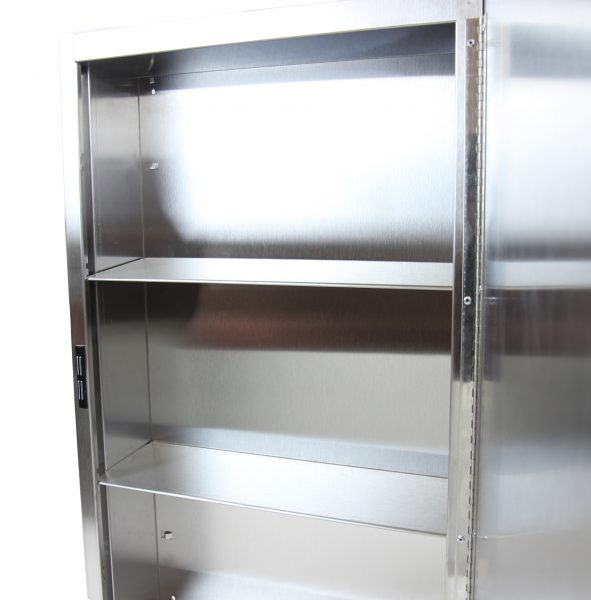 800-S – STAINLESS STEEL MEDICINE CABINET - National Washroom Supply