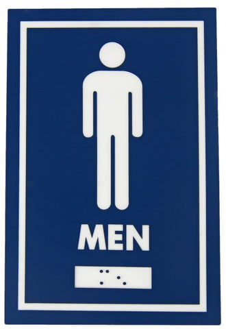 960 – MALE SYMBOL WITH BRAILLE EMBOSS - National Washroom Supply